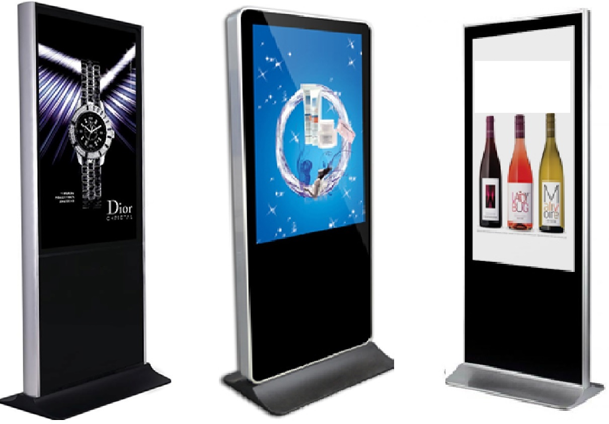 Free Standing Digital Screens