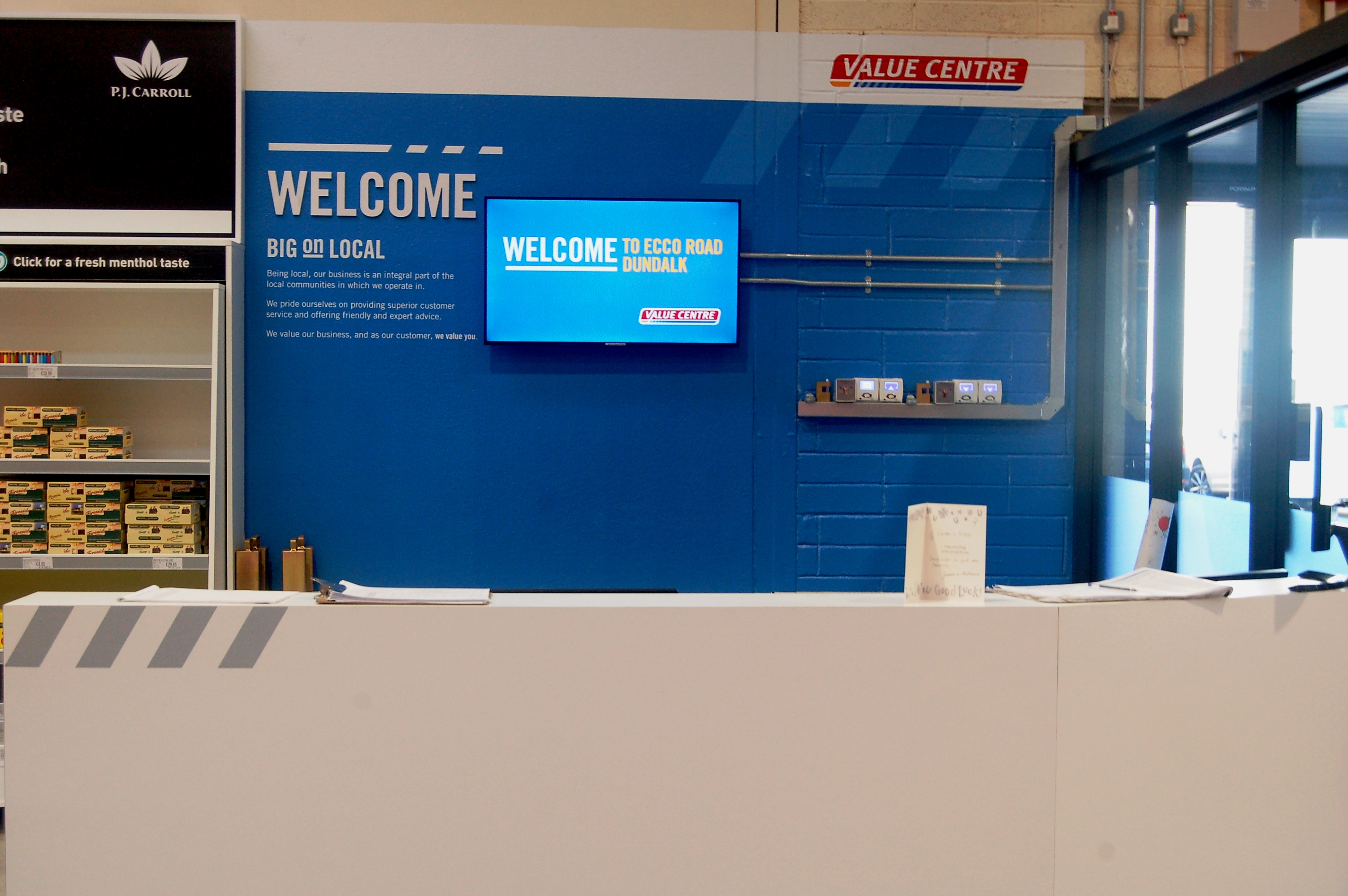 bwg value centre digital roll out digital screen